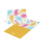 Playful Paisley in Pink -- Monogram Stationery Cards