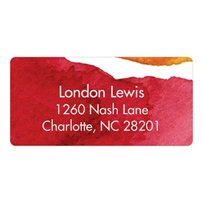 Watercolor Effect -- Stationery Address Labels