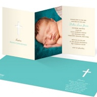 Photo Perfection Baptism Invitations