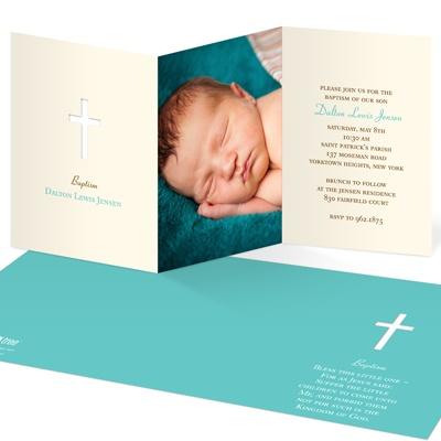 Photo Perfection Baptism Invitations