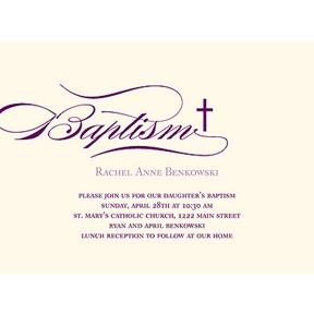 Flowing Script -- Baptism Invitations