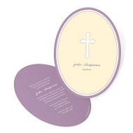 Round Moments Baptism Invitations