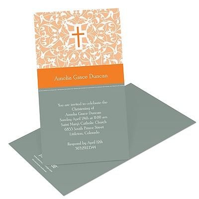 Divine Design Baptism Invitations