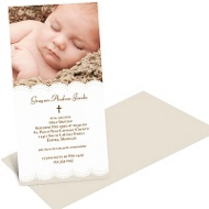 Scalloped Photo Baptism Invitations