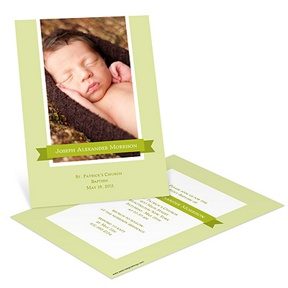 Sweetly Wrapped Banner -- Baptism Invitations