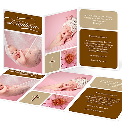 Trendy And Timeless Baptism Invitations