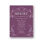 Flourish Framework -- Elegant Baby Shower Invitations