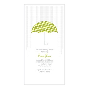 Showers Ahead -- Baby Shower Invitations