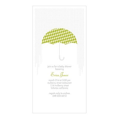 Showers Ahead Baby Shower Invitations