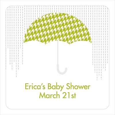 Showers Ahead Stickers Baby Shower Favor Tags