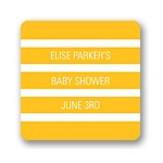 Mesmerizing Stripes -- Baby Shower Favor Stickers