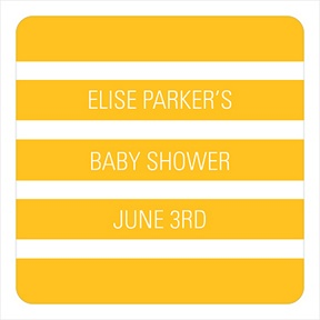 Bold Stripe Stickers -- Baby Shower Favor Tags