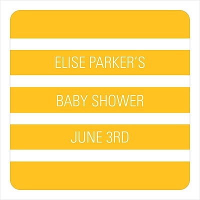 Bold Stripe Stickers Baby Shower Favor Tags