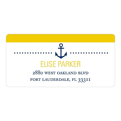Stripes at Sea Nautical Address Labels