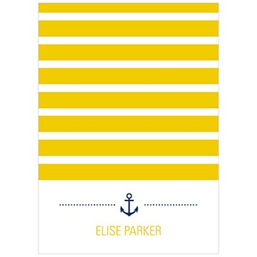 Stripes at Sea -- Nautical Thank You Cards