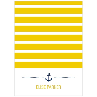 Stripes at Sea Nautical Thank You Cards