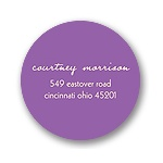Simple Circle -- Purple Baby Shower Address Labels