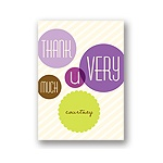 Floating Purple Circles -- Baby Shower Thank You Notes