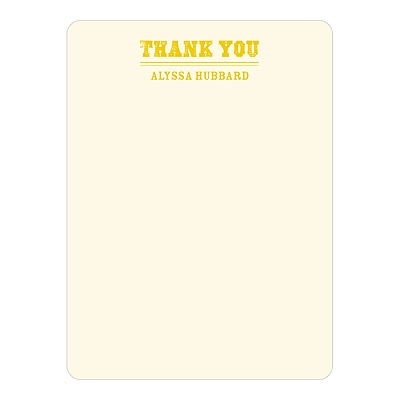 Contemporary Gratitude -- Personalized Thank You Cards