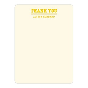 Contemporary Gratitude -- Baby Shower Thank You Cards