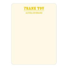 Contemporary Gratitude -- Baby Shower Thank You Cards