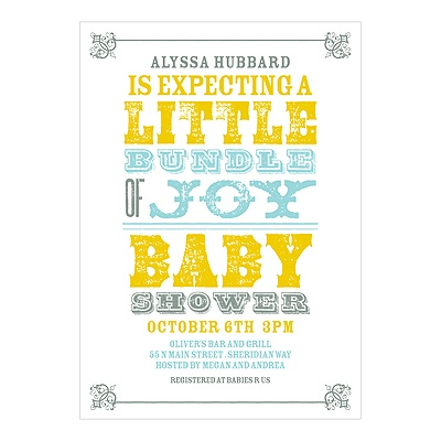 Personalized Poster Baby Shower Invitations