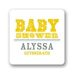 Vintage View -- Baby Shower Favor Stickers