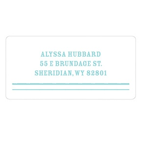 Modern Lines -- New Baby Address Labels