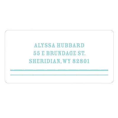 Modern Lines New Baby Address Labels