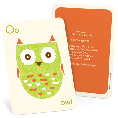 Whimsical Hoot Owl Baby Shower Invitations