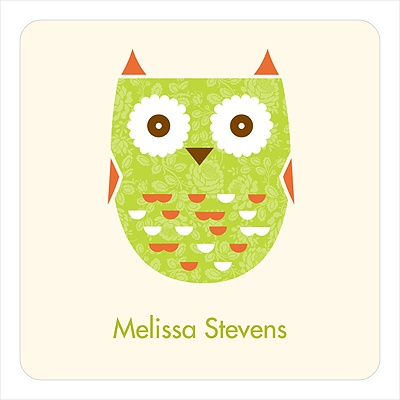 Whimsical Hoot -- Baby Shower Favor Stickers
