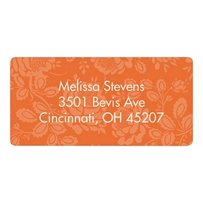 Floral Finds -- Orange Baby Address Labels