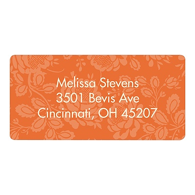 Floral Finds Orange Baby Address Labels