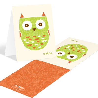 Whimsical Hoot -- Baby Shower Thank You Notes