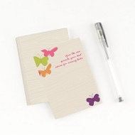 Bright Butterflies Comment Cards Baby Shower Decorations