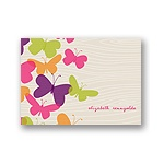 Flowing Wood Design -- Butterfly Thank You Cards