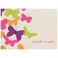 Flowing Wood Design Butterfly Thank You Cards