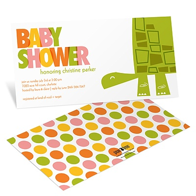 Shell-filled Shower -- Turtle Baby Shower Invitations