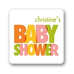 Colorful Overlaps -- Baby Shower Favor Stickers