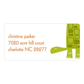 Shell-filled Label -- Turtle Address Labels