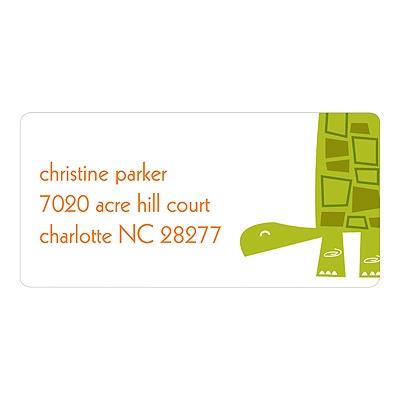 Shell-filled Label Turtle Address Labels