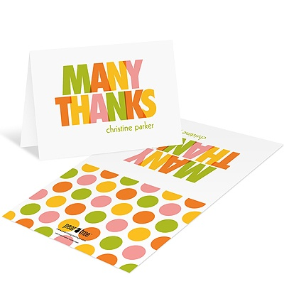 Plentiful Polka Dots Baby Shower Thank You Cards