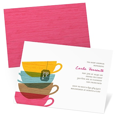 Tea Cups Baby Shower Invitations