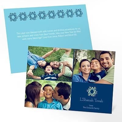 Radiant Star Rosh Hashanah Photo Cards