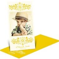 Chic Star of David Rosh Hashanah Photo Cards