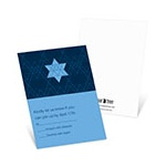 Geometric Star -- Bar Mitzvah Invitation Response Cards
