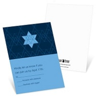 Geometric Star Bar Mitzvah Invitation Response Cards