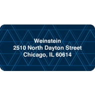 Geometric Pattern Contemporary Address Labels