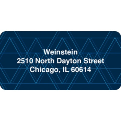 Geometric Pattern Contemporary Address Labels
