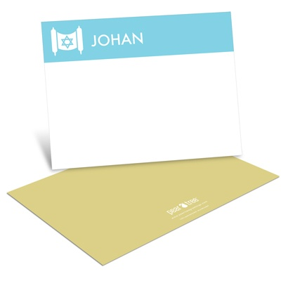 Torah Border -- Personalized Stationery Note Cards